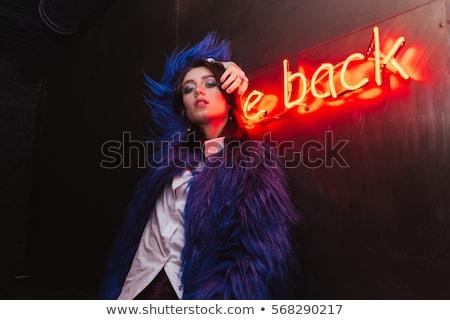 Fetiche bastante dama grave plantean mujer Foto stock © konradbak