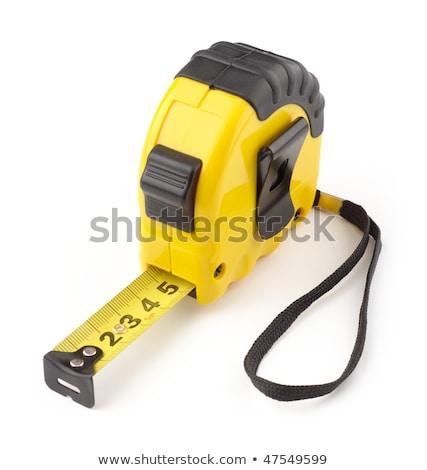 Verticaal meetlint tool heerser witte achtergrond Stockfoto © wavebreak_media