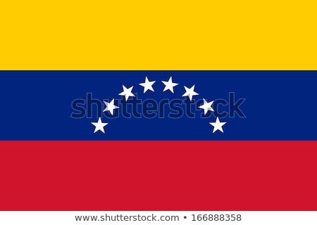 Zászló Venezuela szalag illusztráció szimbólum mű Stock fotó © MikhailMishchenko