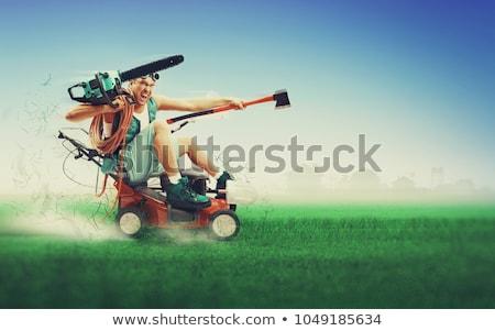 çılgın · adam · İngiliz · anahtarı · kask · mutlu · inşaat - stok fotoğraf © vlad_star