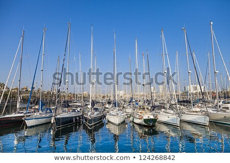 Jacht racing macht spelevaren Dubai jachthaven Stockfoto © SophieJames