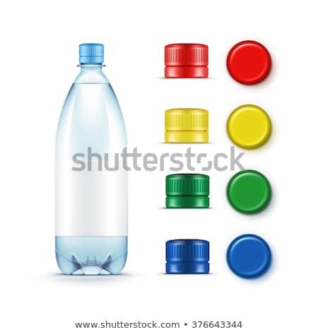 yalıtılmış · beyaz · plastik · şişe · kapak · iki - stok fotoğraf © eldadcarin