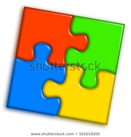 Stock photo: Combined Multi Color Puzzle - Work Concept