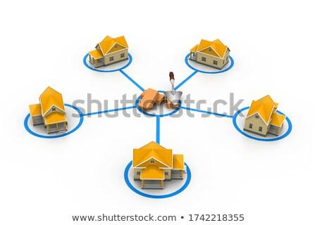 Simbólico rede negócio construção casa porta Foto stock © 4designersart