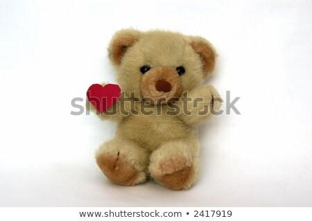 Czerwony mały karteczkę serca wektora eps10 Zdjęcia stock © ikopylov
