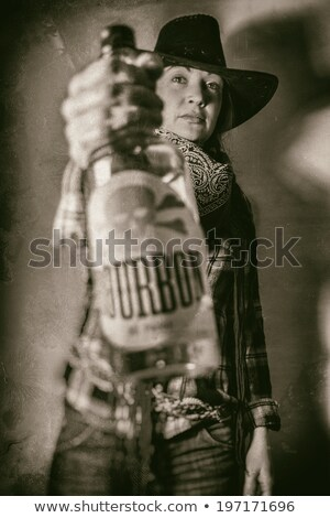 bad cowgirl Stock photo © vwalakte