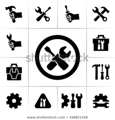 Résumé outils icône construction fond industrie Photo stock © rioillustrator