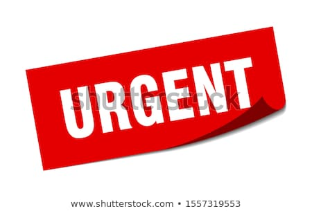 Urgent rouge blanche affaires tampon Photo stock © chrisdorney