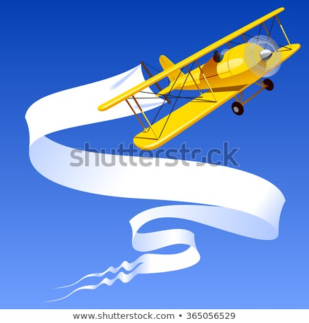 airplane with blank sign stock photo © carbouval