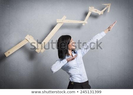 小さな 熱狂的な 女性実業家 笑みを浮かべて 健康 議論 ストックフォト © get4net