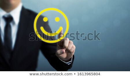 Business man with smiley faces Stock photo © Melpomene