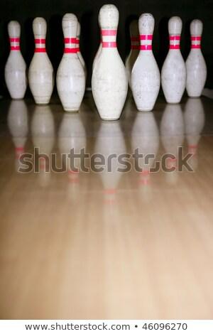 bowling · csetepaté · fapadló · fából · készült · buli · sport - stock fotó © lunamarina
