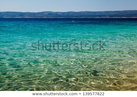 Stock photo: Wonderful Adriatic Sea with Deep Blue Water near Split, Croatia