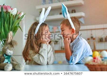 ウサギ 見える 卵 食品 草 自然 ストックフォト © jelen80