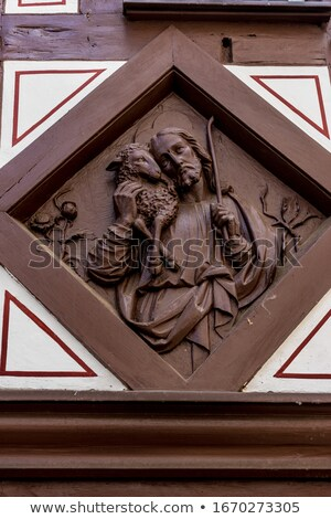 Close-up of Jesus Christ holding sheep Stock photo © zzve