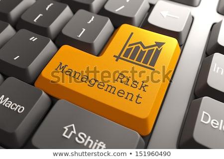 keyboard with risk management button stock photo © tashatuvango