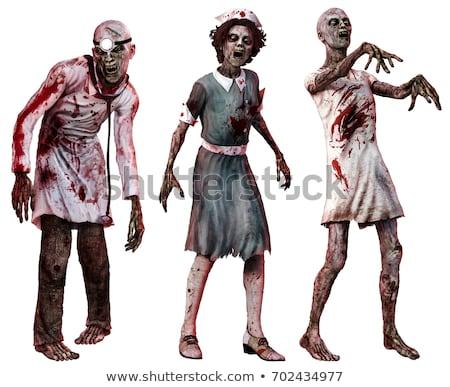 Bloody Halloween Nurse Stock photo © Kakigori