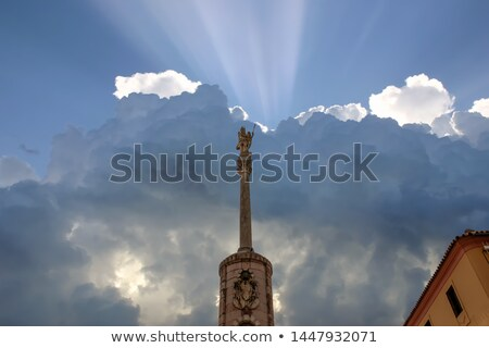 Triomphe saint nuit ville ange pierre Photo stock © rognar