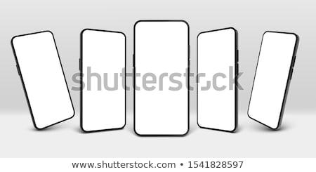 Gerçekçi boş dokunmatik ekran siyah yalıtılmış Stok fotoğraf © IMaster