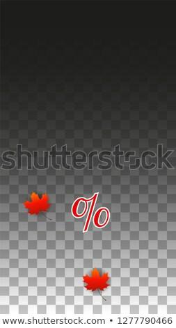 осень продажи баннер 20 Проценты Сток-фото © marinini