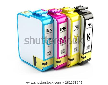 Tintasugaras nyomtatópatron izolált fehér közelkép terv Stock fotó © pxhidalgo