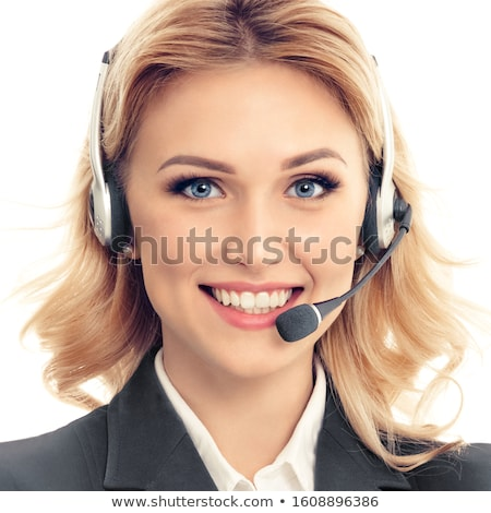 Blond zakenvrouw portret mooie zakenvrouw dollar Stockfoto © dash