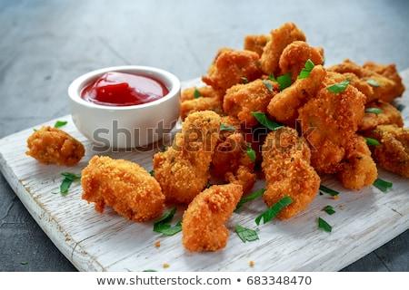 kip · ketchup · voedsel · borst · diner - stockfoto © m-studio