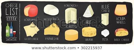 チーズ · 表 · ミルク · 朝食 · ボード - ストックフォト © karandaev