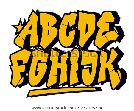 vector graffiti font part 1 stock photo © odes
