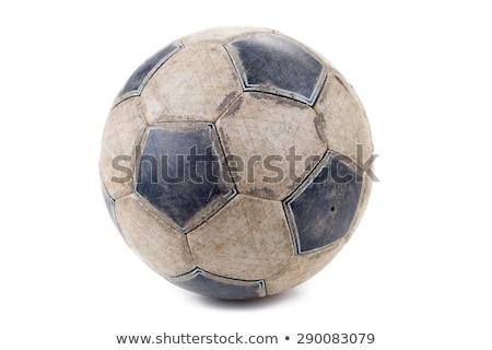 Kirli futbol topu vektör futbol spor soyut Stok fotoğraf © burakowski