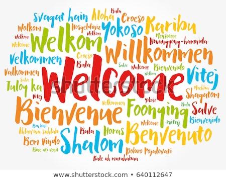 Welcome, Bienvenue, Willkommen Word Cloud Stock photo © burakowski