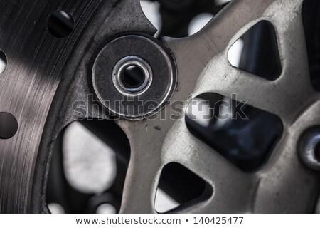 マクロ ショット オートバイ ブレーキ 金属 鋼 ストックフォト © shanemaritch