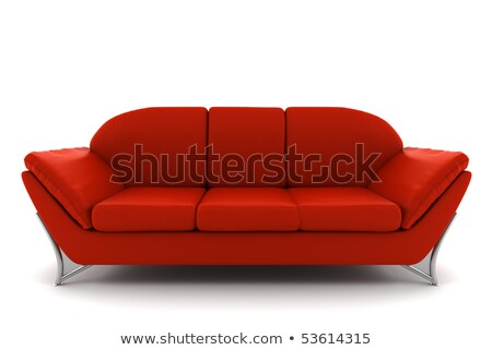 luxury red sofa isolated with clipping path Stock photo © tungphoto
