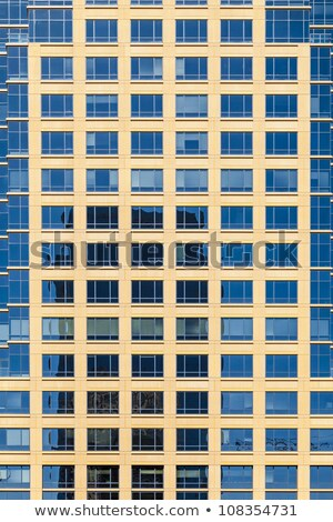 facade of skyscraper with windows structured in rows with differ Stock photo © meinzahn