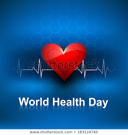 Beautiful World health day concept with beats line medical blue  Stock photo © bharat