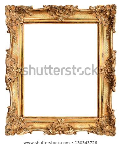 Beyaz çerçeve resim yalıtılmış ahşap duvar Stok fotoğraf © vizarch
