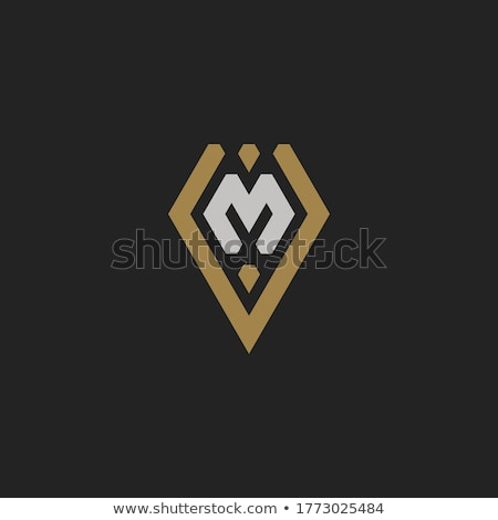 T Shirt Template- Capital letter M Stock photo © shawlinmohd