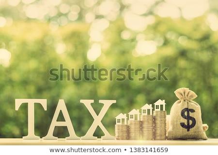 impuesto · azul · dotación · holandés · oficina - foto stock © Hofmeester