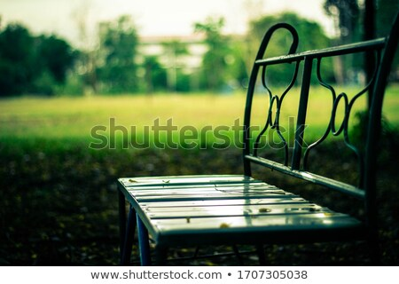 brown bench stock photo © nneirda