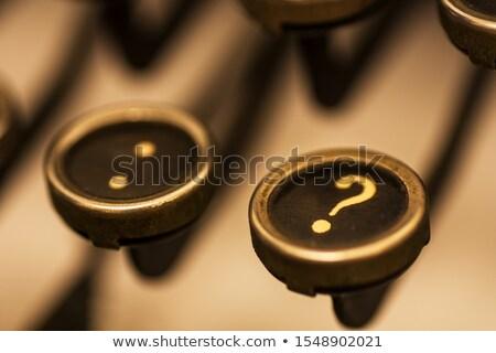 Velho estilo faq manual máquina de escrever Foto stock © 3mc