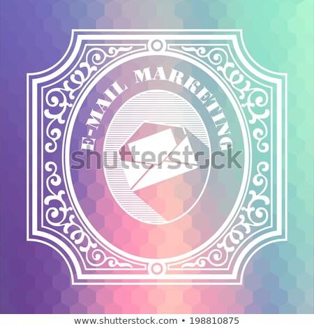 E-mail marketing vintage projeto cor Foto stock © tashatuvango