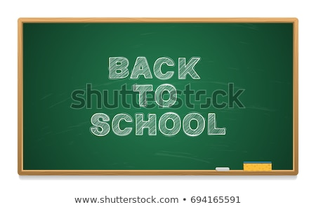 Cartoon Chalk Vector Font on Green School Board stock photo © Voysla