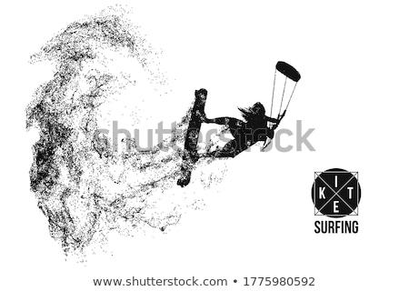 extrém · sport · tengerpart · égbolt · sport · tenger · kék - stock fotó © smuki