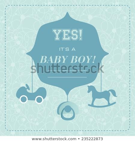 Small Sweet Boy On Rocking Horse Stock fotó © mcherevan