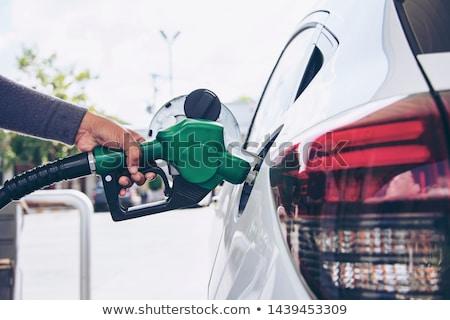 Auto brandstof mondstuk grijs weg verkeer Stockfoto © flipfine