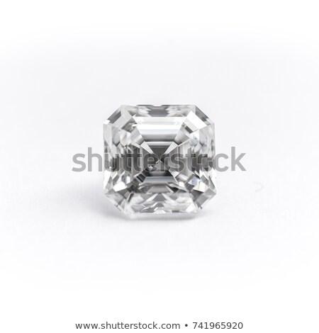 Obyty diament odizolowany biały ceny szkła Zdjęcia stock © tuulijumala