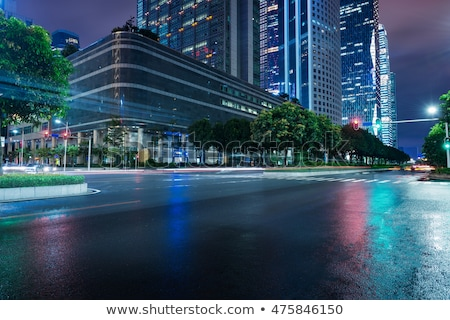 city street at night stock photo © gemenacom