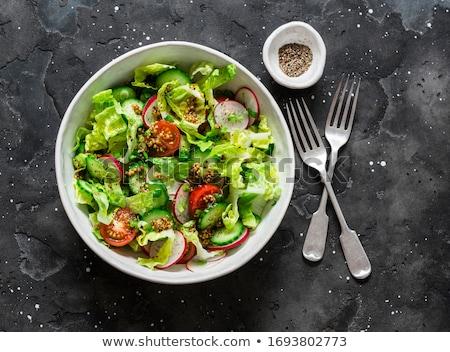 Turp salata gıda yaprak restoran yağ Stok fotoğraf © yelenayemchuk