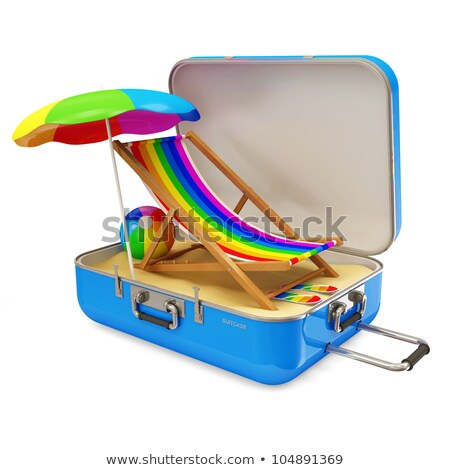Plane, Beach and Deckchairs stock photo © artybloke
