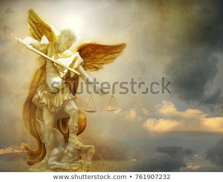 Engel wenig Junge Flügel Wolke kid Stock foto © Soleil